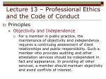lecture 13 professional ethics and the code of conduct19