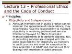 lecture 13 professional ethics and the code of conduct20