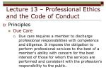 lecture 13 professional ethics and the code of conduct21