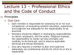 lecture 13 professional ethics and the code of conduct23