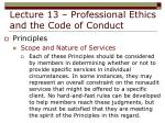 lecture 13 professional ethics and the code of conduct24