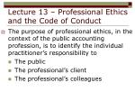 lecture 13 professional ethics and the code of conduct3