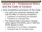 lecture 13 professional ethics and the code of conduct32