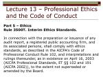 lecture 13 professional ethics and the code of conduct34