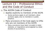 lecture 13 professional ethics and the code of conduct5