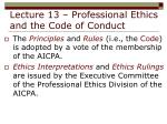lecture 13 professional ethics and the code of conduct8