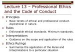 lecture 13 professional ethics and the code of conduct9
