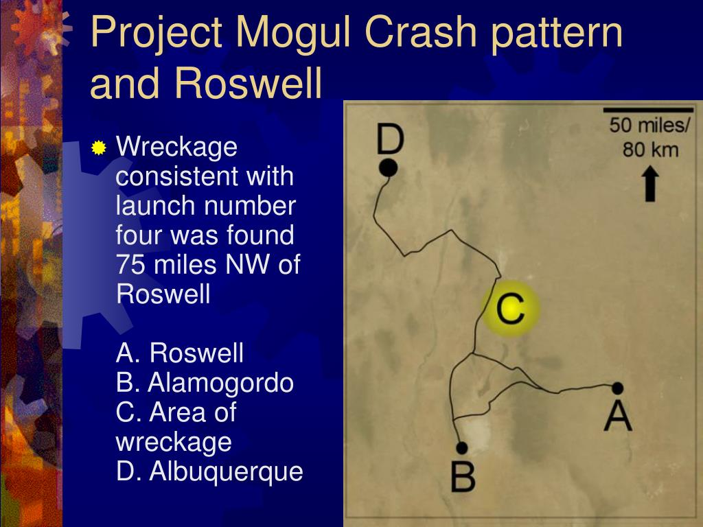 Project Mogul Crash pattern and Roswell