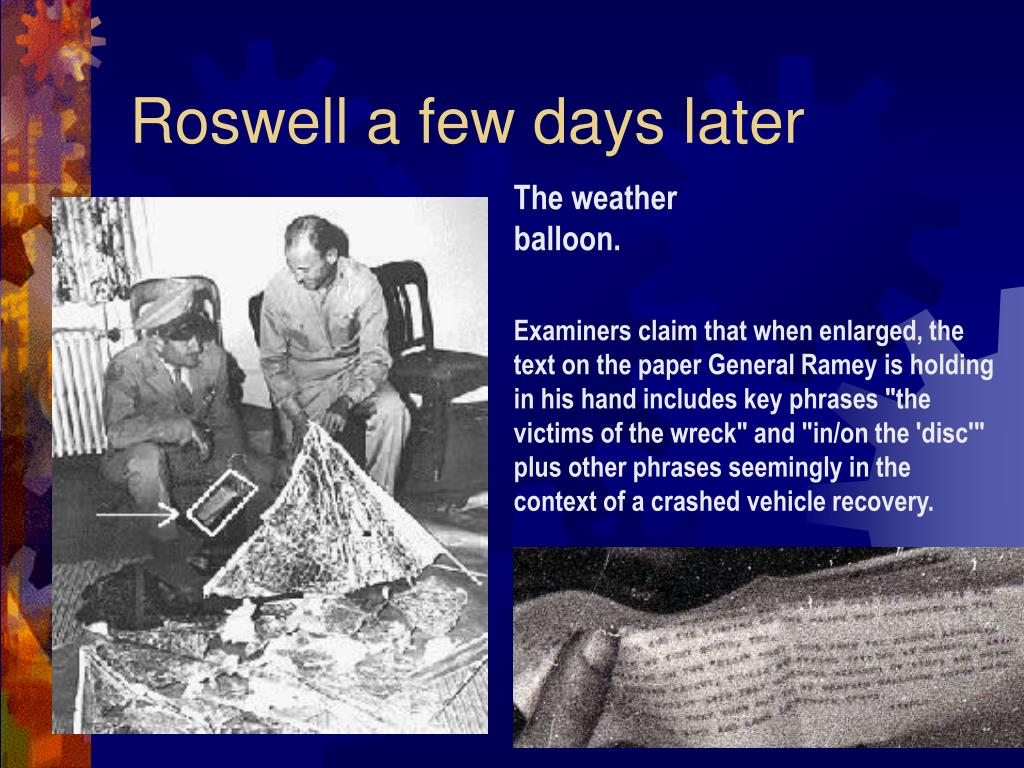 Roswell a few days later