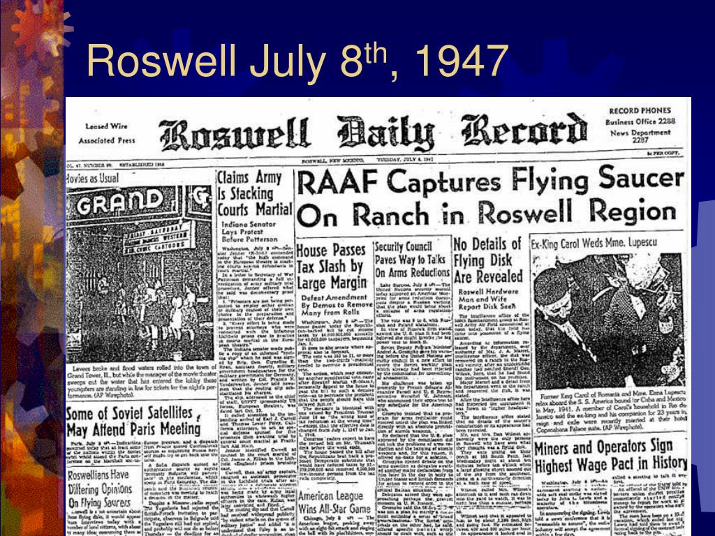 Roswell July 8