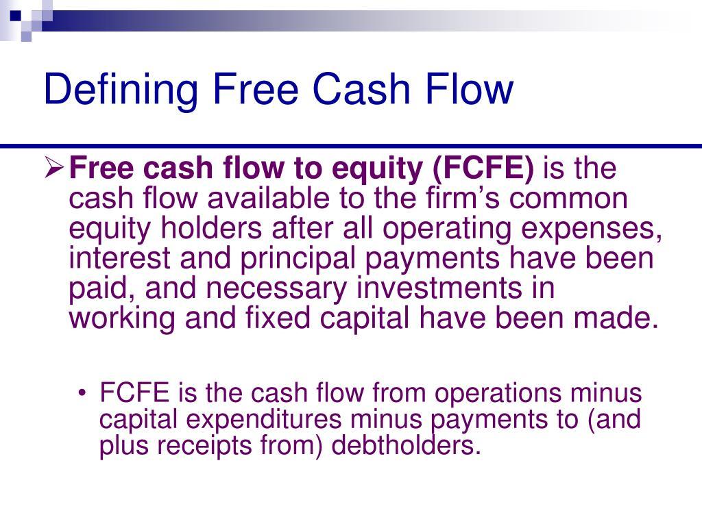 Defining Free Cash Flow