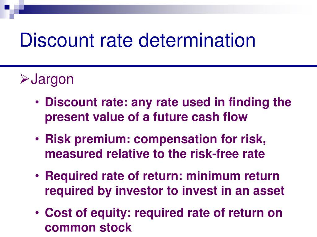 Discount rate determination