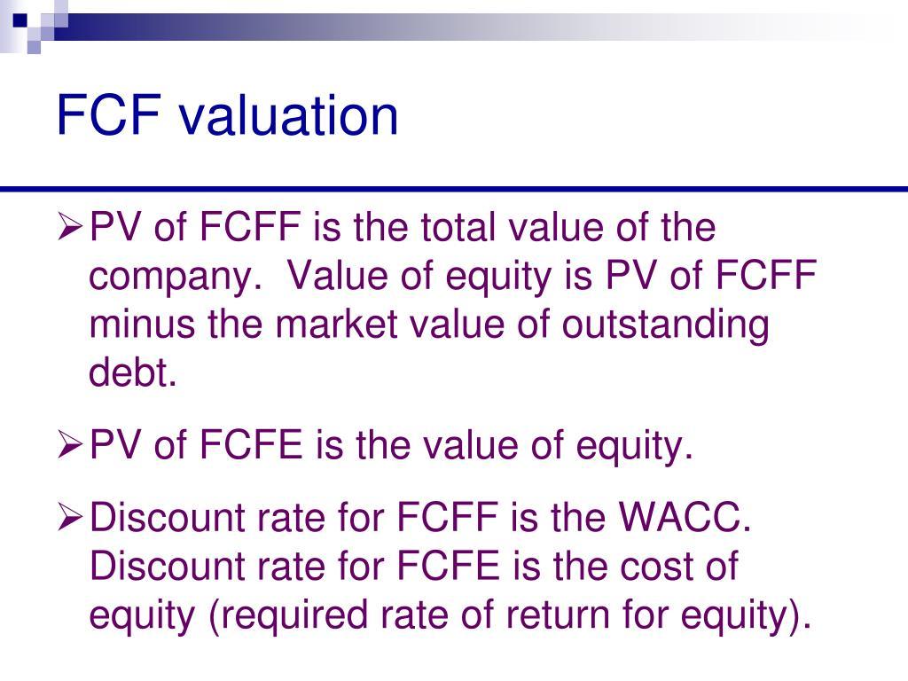 FCF valuation