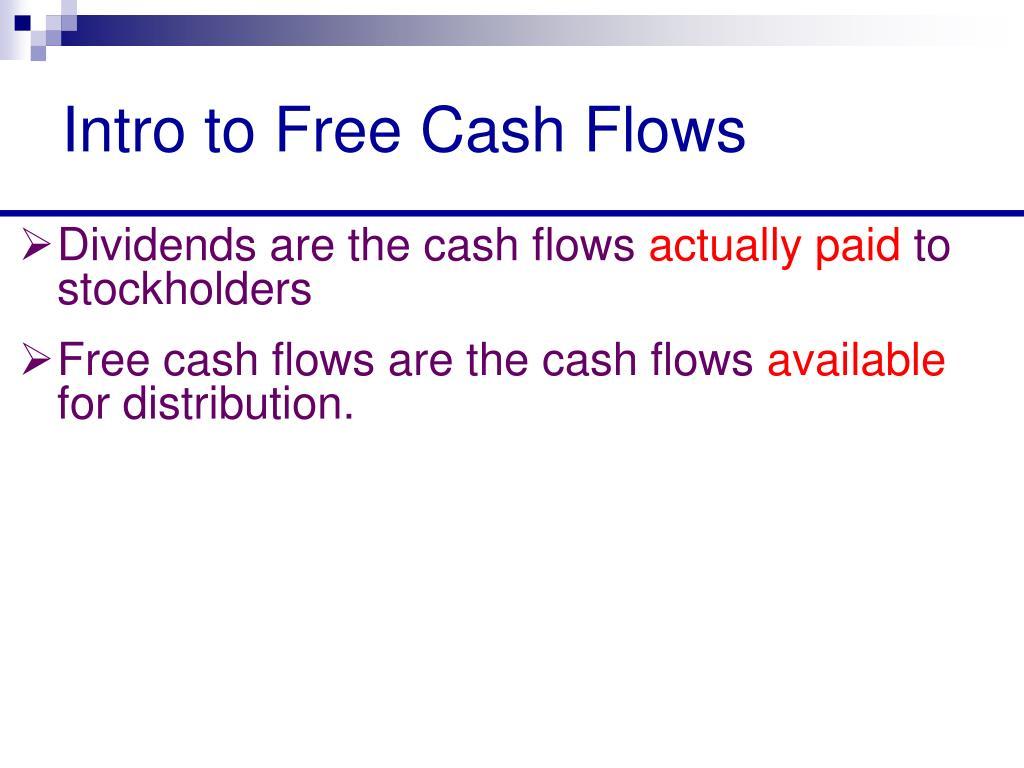 Intro to Free Cash Flows