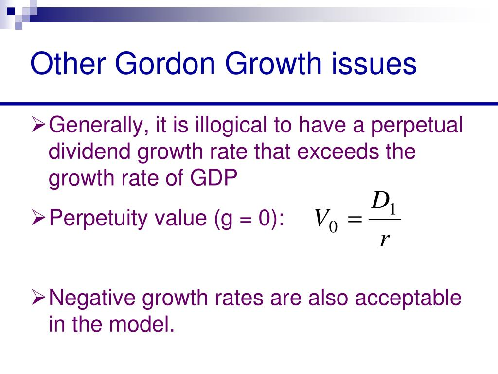 Other Gordon Growth issues