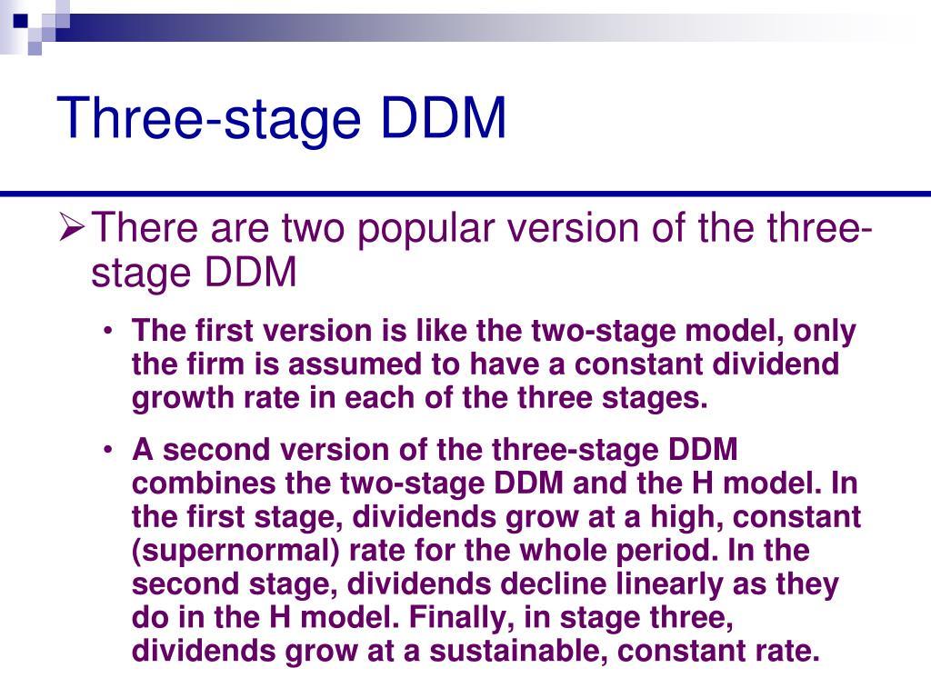 Three-stage DDM