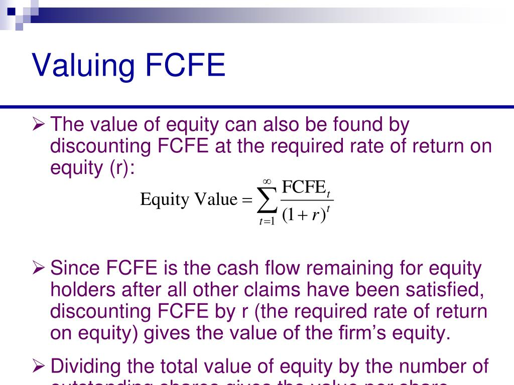 Valuing FCFE