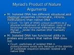 myriad s product of nature arguments