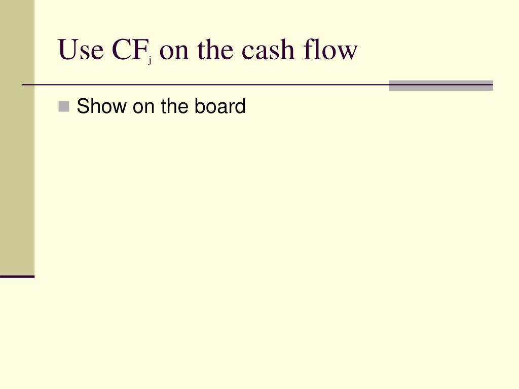 Use CF
