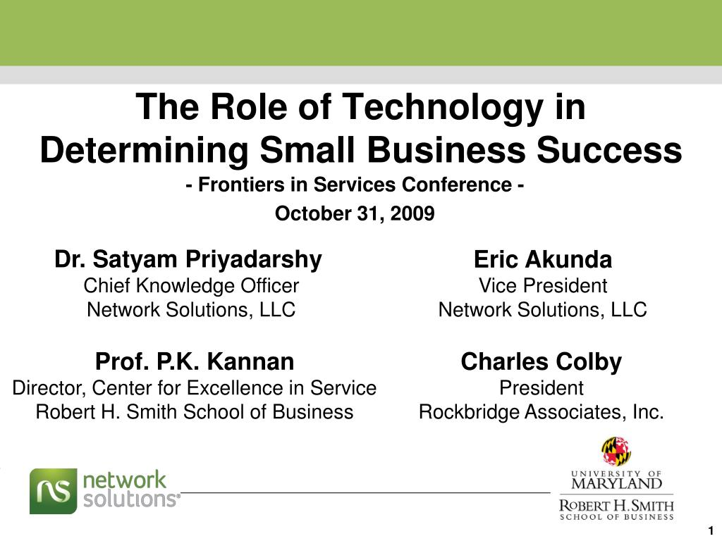 the role of technology in determining small business success l.