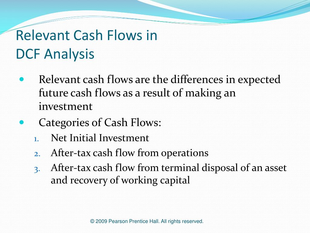 Relevant Cash Flows in