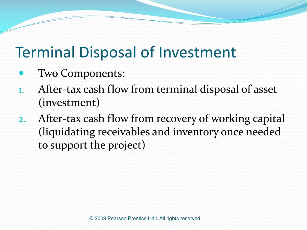 Terminal Disposal of Investment