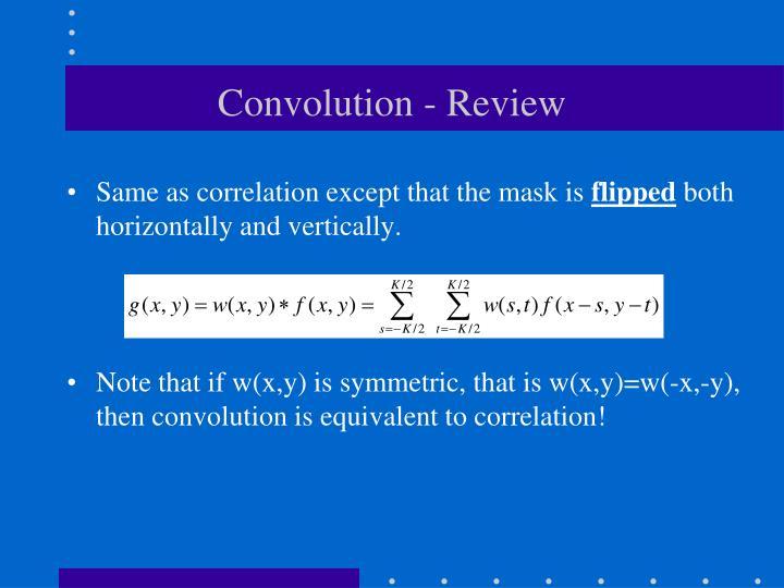 Convolution review