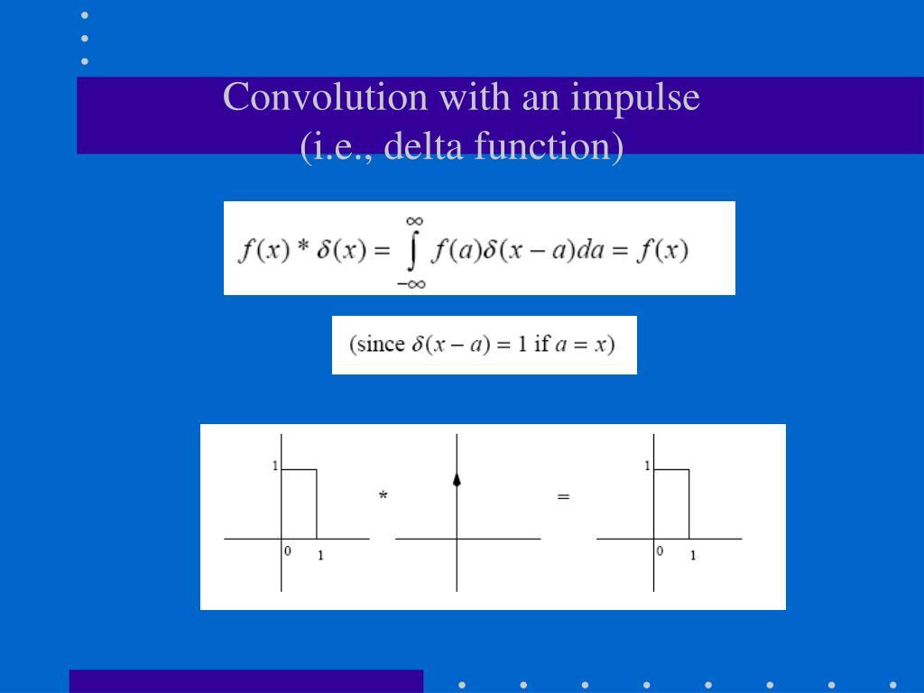 Convolution with an impulse