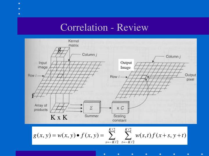 Correlation review
