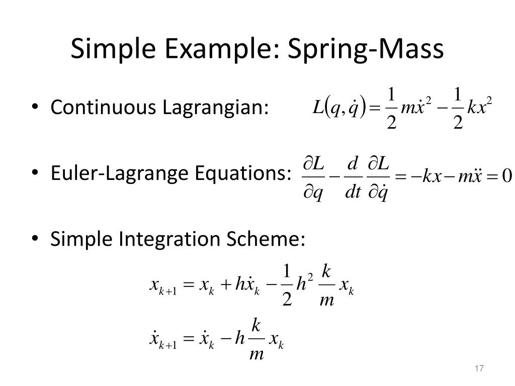 Simple Example: Spring-Mass