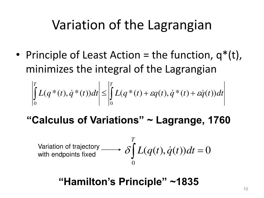 Variation of the Lagrangian