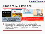 links and sub domains