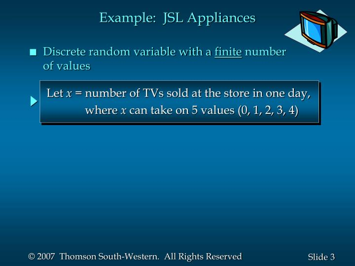 Example jsl appliances