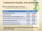 employment quality job satisfaction