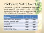 employment quality protection