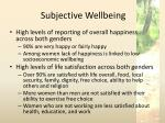 subjective wellbeing