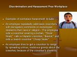 discrimination and harassment free workplace11