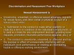 discrimination and harassment free workplace12