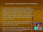 discrimination and harassment free workplace24