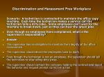 discrimination and harassment free workplace26