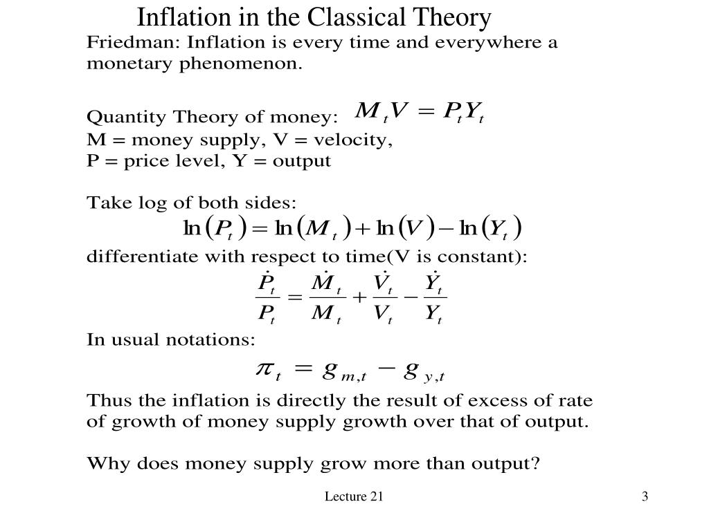 Inflation in the Classical Theory
