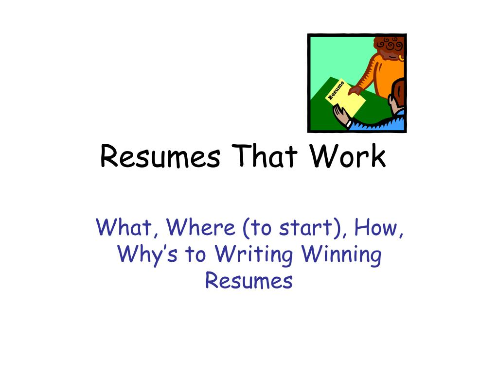 resumes that work l.