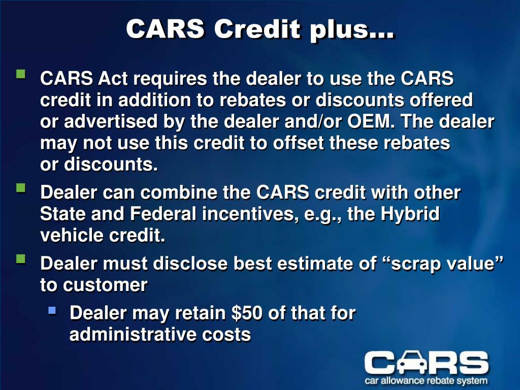 CARS Credit plus…