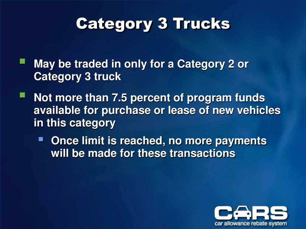 Category 3 Trucks