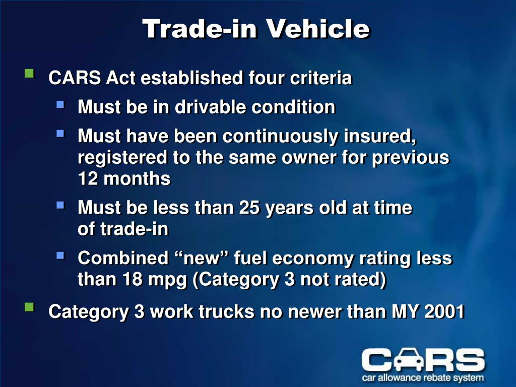 Trade-in Vehicle