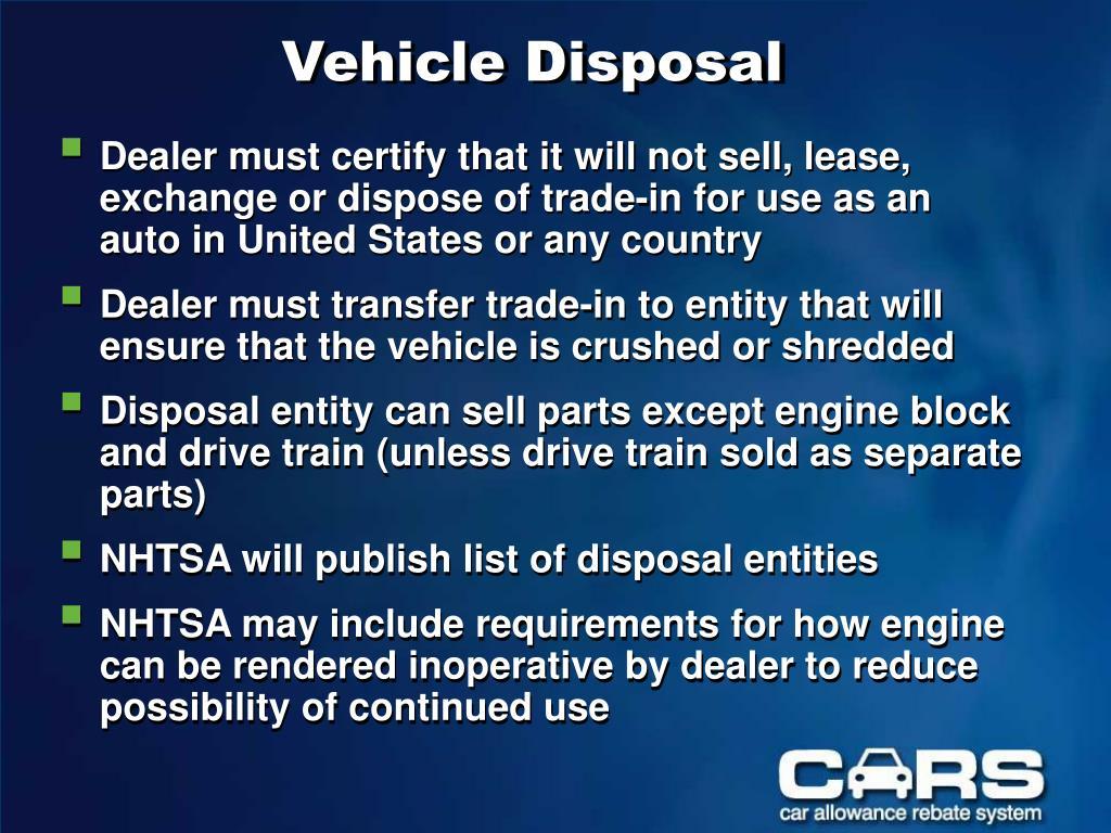 Vehicle Disposal