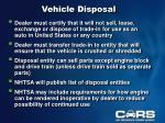 vehicle disposal