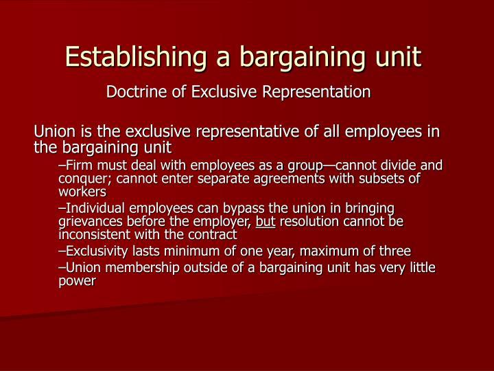 Establishing a bargaining unit