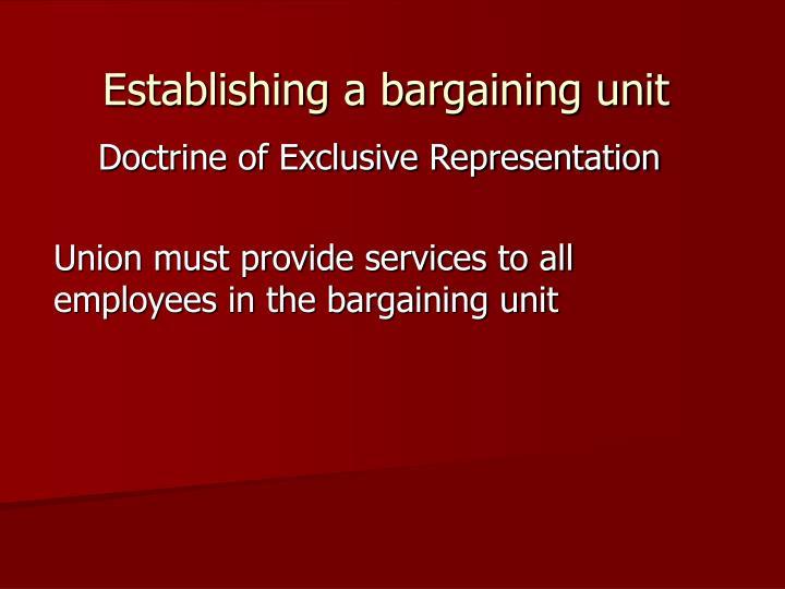 Establishing a bargaining unit3