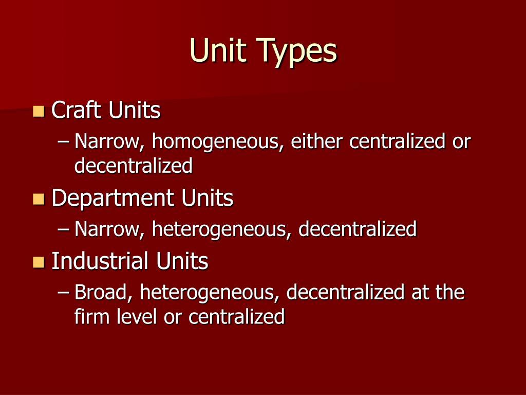 Unit Types